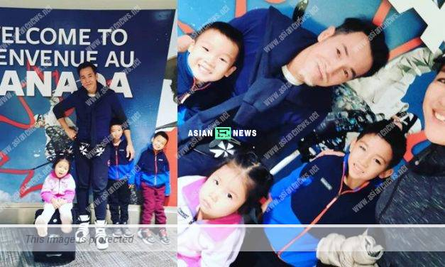 Moses Chan and Aimee Chan took their children to Canada for a vacation