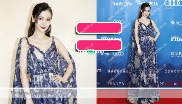 "Angelababy was slammed by the netizens when using photoshop to ""appear"" at the red carpet"
