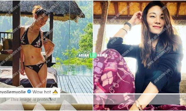 Bernice Liu wore bikini to show her fit body figure