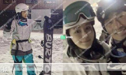 Raymond Lam and Carina Zhang went for skiing in Hokkaido