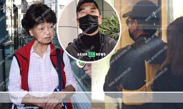 Chow Yun Fat was dressed in all black to visit his mother at the hospital