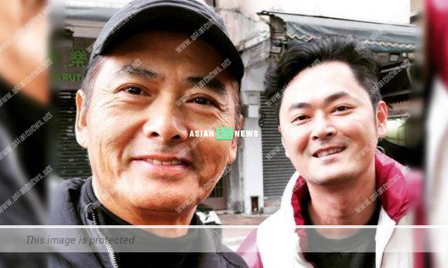 Look like brothers? Oscar Siu was overjoyed to take photo with Chow Yun Fat