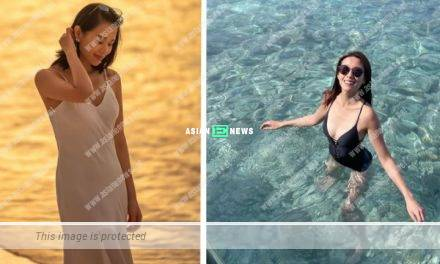 The Sisterhood Travelling Gang: Elaine Yiu wore black swimsuit