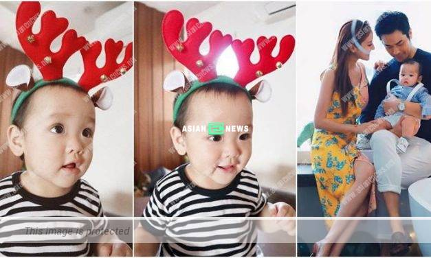 Grace Chan helped her son, Rafael to disguise as a reindeer