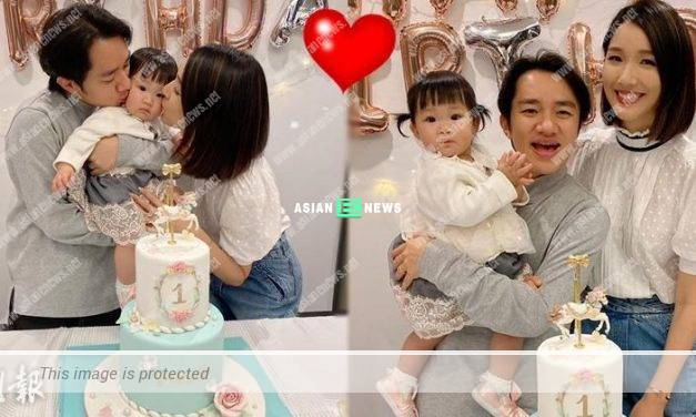 Wong Cho Lam's daughter, Gabby turned one year old