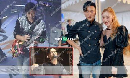 Nicholas Tse perspired heavily and removed his chef uniform on the stage