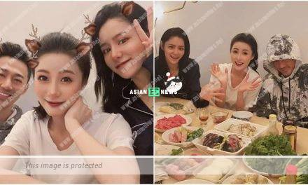 Raymond Lam, Carina Zhang and Rosina Lam had a big feast together