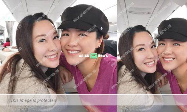 A coincidence? Ms Hong Kong Kate Tsui and Aimee Chan took the same flight