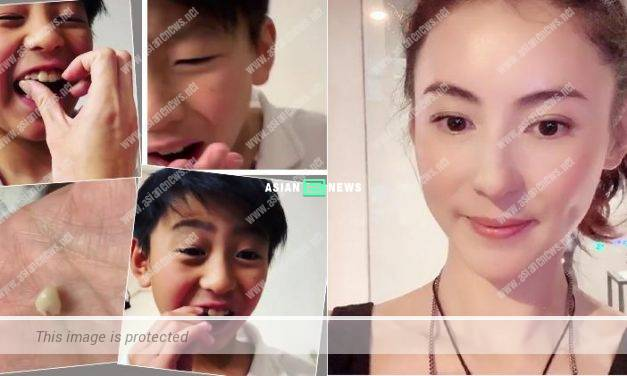 "Cecilia Cheung ""extracted"" the tooth from her second son within 1 second"