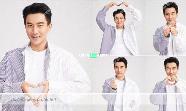 """Hawick Lau wished """"happy new year"""" to everyone with 5 heart symbols"""