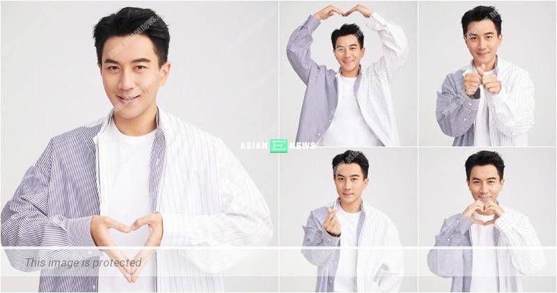"Hawick Lau wished ""happy new year"" to everyone with 5 heart symbols"