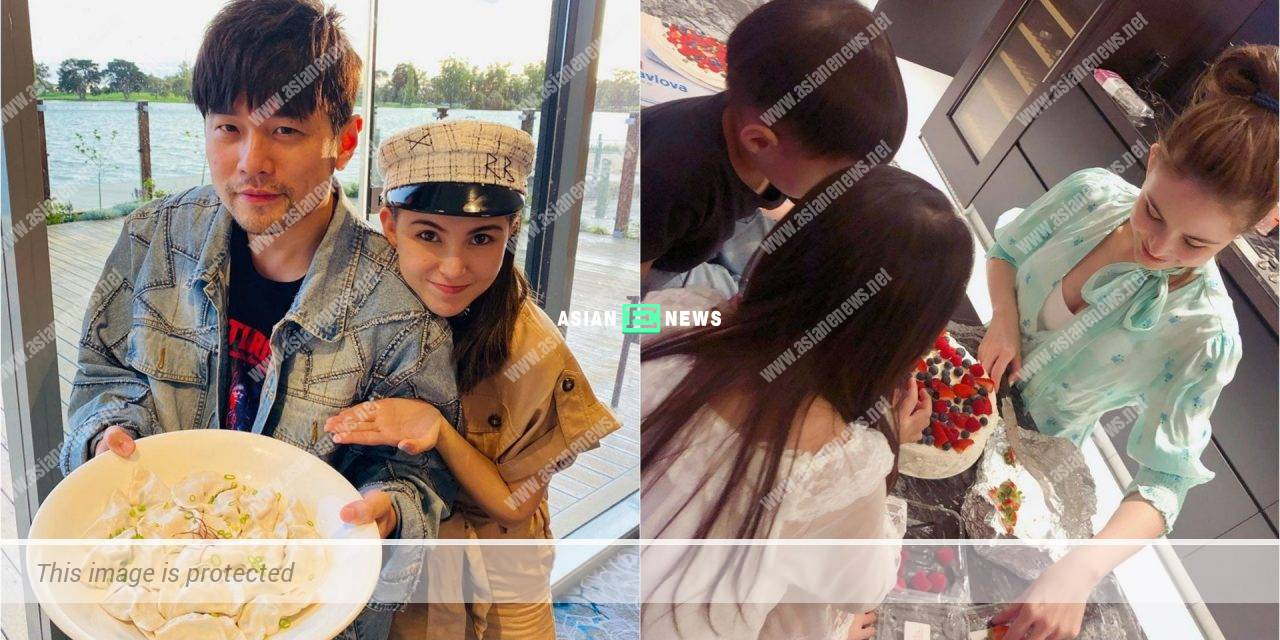 Is Jay Chou the photographer? Hannah Quinlivan made new year cake with her children