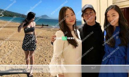 Jet Li's younger daughter Jade revealed her beautiful legs in Hawaii