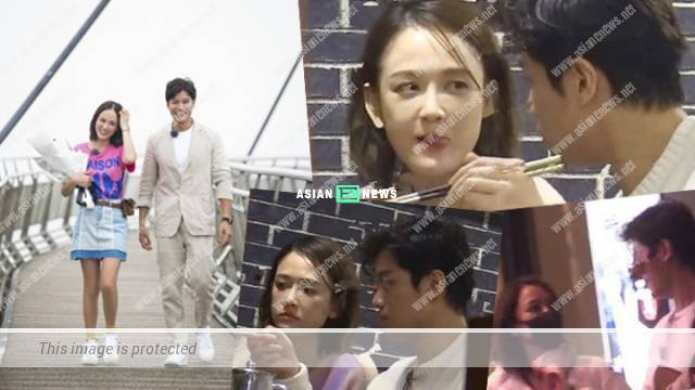 Joe Chen and her Malaysian boyfriend Alan behaved as a sweet couple in Shanghai