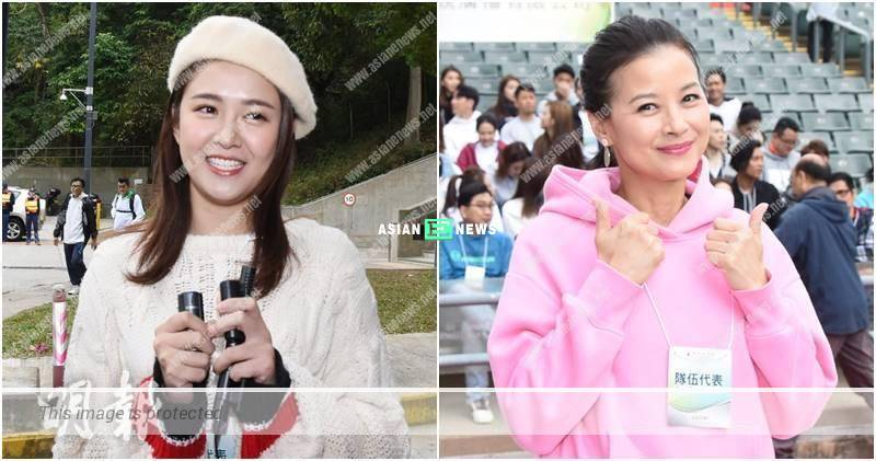 Kong Ka Man and Eva Lai were unworried about their safety issue at a public event