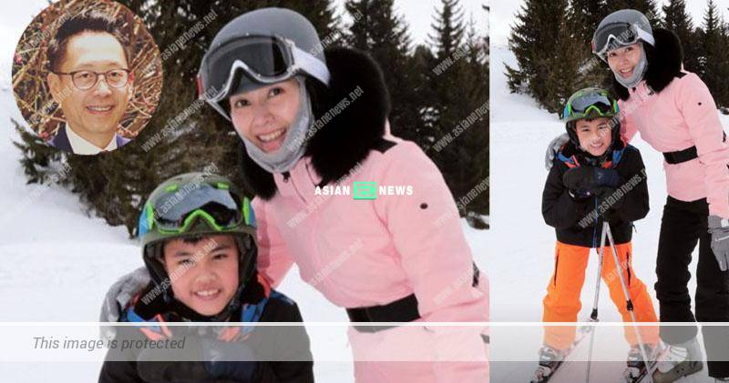 Where is Julian Hui? Michelle Reis and her son went for skiing in overseas