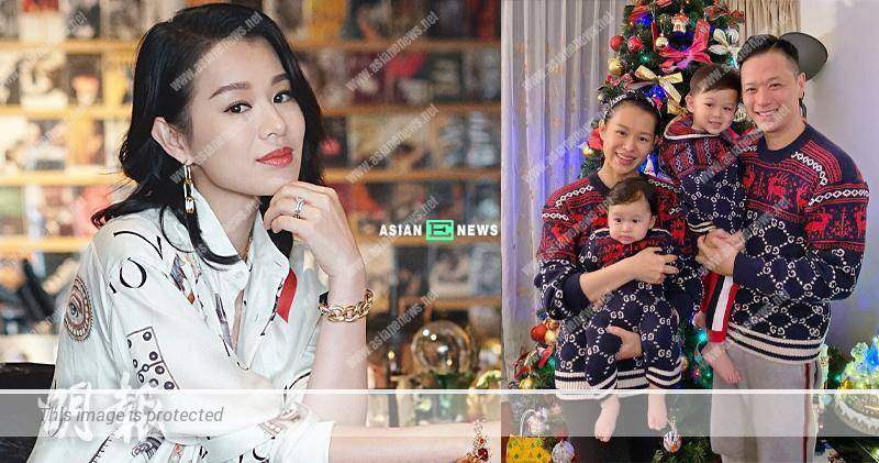 Myolie Wu made safety precautions before carrying her son at home