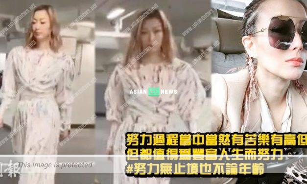 Sammi Cheng shared about her perspective related to working hard this time