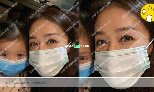 Scarlett Wong was criticised when wearing the mask wrongly