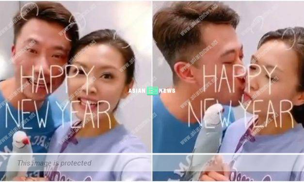 A stable relationship? Toby Chan and her boyfriend kissed sweetly