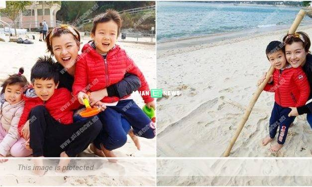 Aimee Chan took her children for learning exposure at a beach