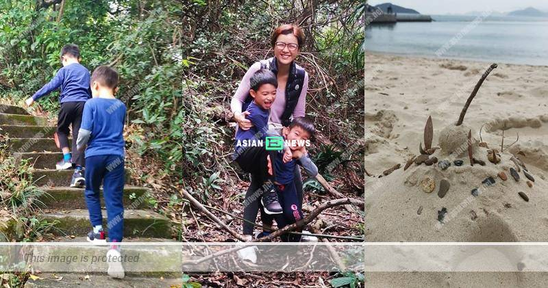 Aimee Chan took her sons for hiking and enjoyed the beautiful nature