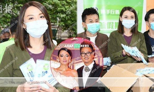 Alice Chan distributed 10,000 face masks to the elderly people
