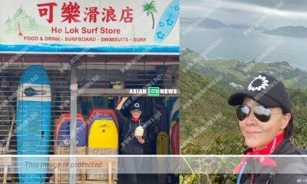 Carina Lau felt grateful to the shop owner for giving her coconut drink