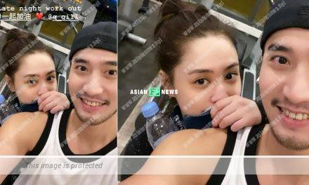 Gillian Chung and her husband trained together in gym in Malaysia