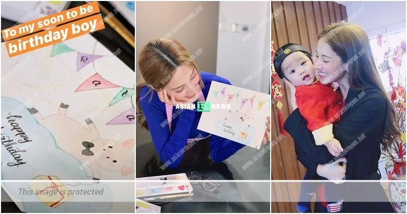 Grace Chan won compliments from Kevin Cheng when drawing a birthday card