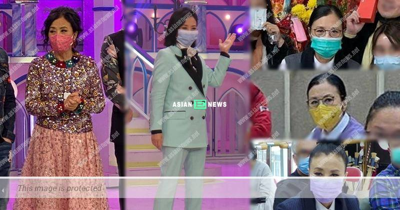 72-year-old Liza Wang matched her outfits with different colours of face masks
