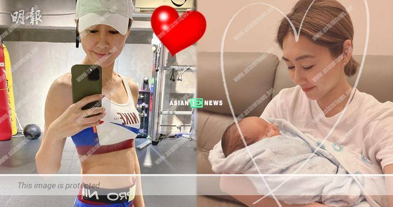 Nancy Wu showed her motherly love when carrying the baby