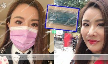 Pinky Cheung felt grateful when her friend gave her face mask
