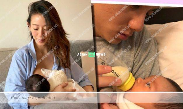 Toby Leung shared photo of herself breastfeeding her son