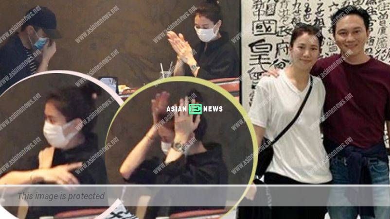Effective safety measure? Anita Yuen applied hand sanitiser on her hair and clothes