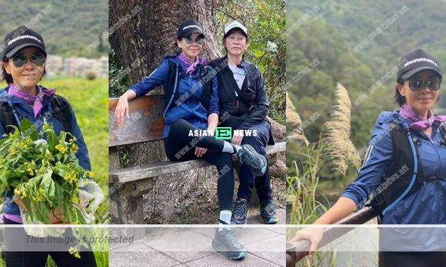 Filial daughter Carina Lau went for hiking with her mother