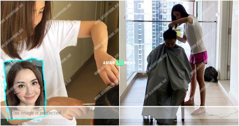 Charlene Choi helped her assistant to cut his hair; Kenny Kwan used his mobile phone to sing karaoke