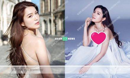Sexy Christine Kuo revealed her cleavage when shooting an advertisement
