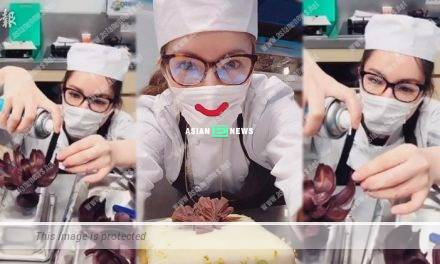 Christine Kuo wore face mask for 10 hours during the baking process