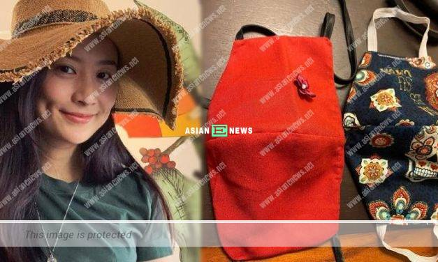 Fala Chen praised her mother was creative to sew face masks for her