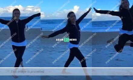 Gigi Lai had a relaxing time at the beach: The nature is indeed a miracle