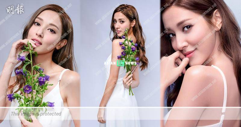 Grace Chan loved to take a shower and shoot shower gel advertisement