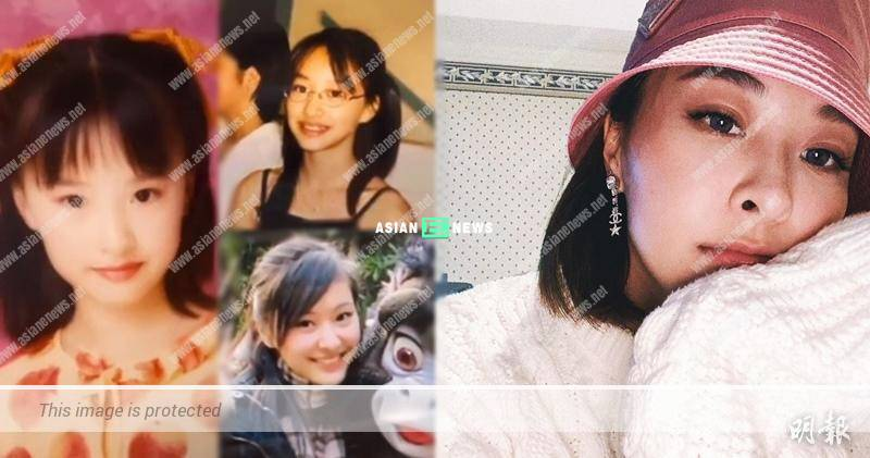 Lucky Jeannie Chan has nice face features since young