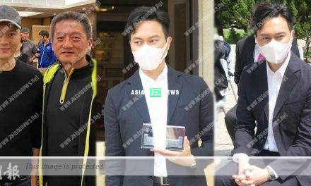 Julian Cheung made his first public appearance after eating with the cops