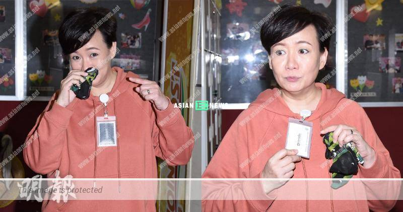 Kiki Sheung used handkerchief to cover her nose