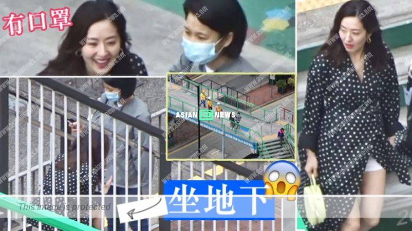 Daring Natalie Tong did not wear face mask in the public area