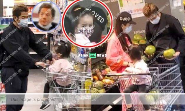 Aaron Kwok and his family were at the supermarket; He chose fresh groceries by himself
