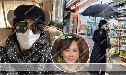 Carina Lau went for shopping at an empty street