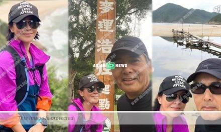 Carina Lau goes for hiking with Chow Yun Fat: I feel my legs are not mine anymore