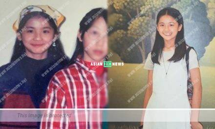 Charlene Choi found her old childhood photos when doing spring cleaning
